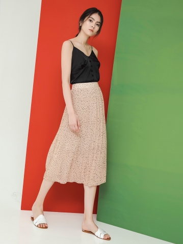 QUEENIE PLEATED SKIRT