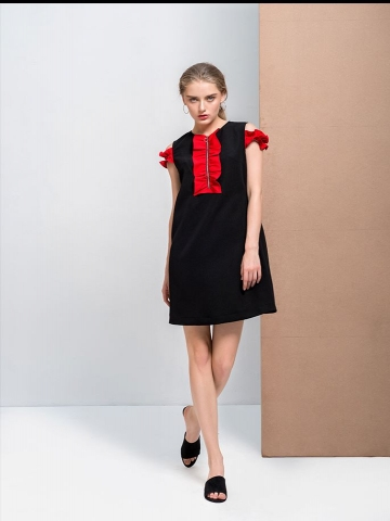 MILA RUFLE DRESS